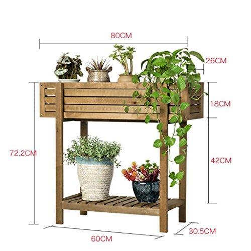 Porte Plante Groove Solide Bois Créatif Fleur Balcon Balcon Salon Succulent Intérieur Multi-fonctionnelle Fleur Étagère Étagères à fleurs (Couleur : A)