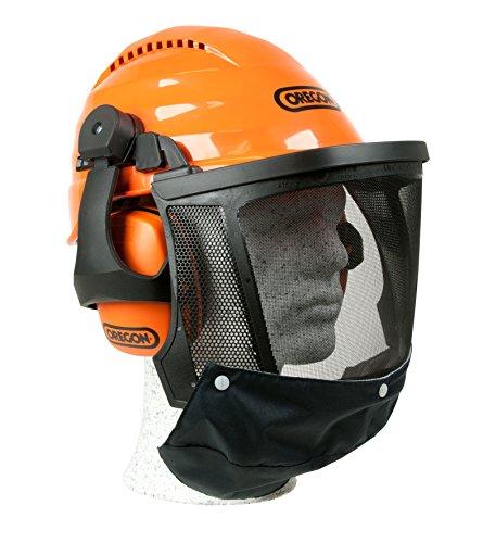 Oregon Waipoua Professioneller Kettensägen-Sicherheitshelm mit Gehörschutzmanschette und Netzvisier, Schlagfeste, Bequeme Schutzhelm-Sicherheitsausrüstung (562413)
