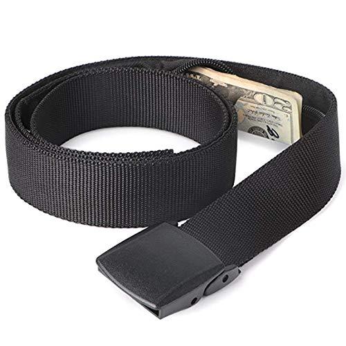 Active Roots Security Belt - Hidden Money Anti-Theft Travel Belt - Plastic Buckle (Plastic)
