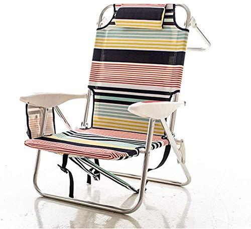 Silla camping plegable sillas plegables camping Plegable dormir perezoso del Presidente del ocioso de aleación de aluminio con bolsa de hielo Playa Jardín Inicio Hora de la almuerzo de mentira de ajus