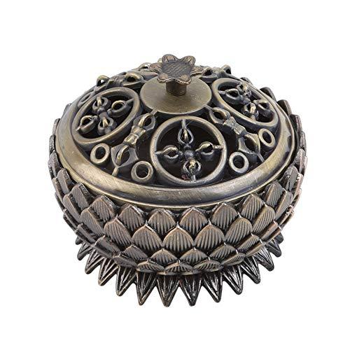 QQWA Jahrgang Lotus Duft Vaporizer Aroma Brenner Halfter Herde Räuchergefäß Dekor, Ancient Cyan