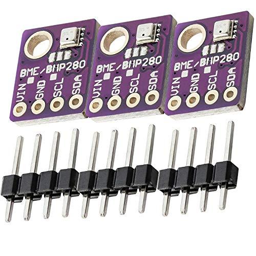 AZDelivery 3 x GY-BME280 Barometrischer Sensor für Temperatur, Luftfeuchtigkeit und Luftdruck inklusive E-Book!