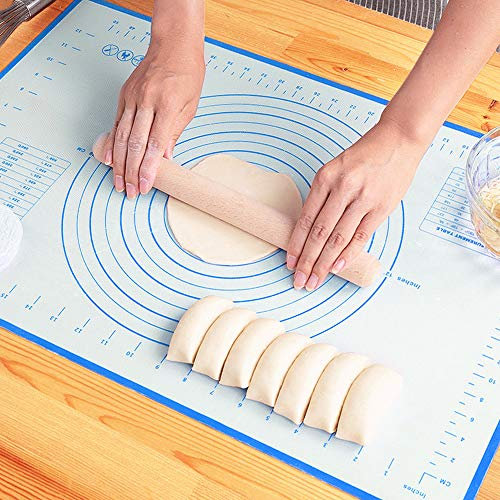 LIMNUO Silicone Pastry Baking Mat Non Stick Large Extra Thick with Measurements Baking Mat,Dough Rolling Mat,Oven Liner, 20 x 16 Inch