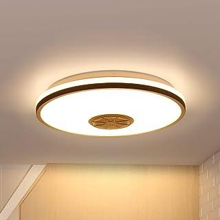 comprar comparacion Wovatech Luz de techo LED con música - Iluminación de 36W con altavoz Bluetooth Wifi - Lámpara de techo regulable y cambia...