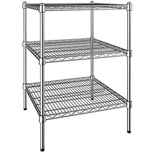 14 inch x 30 inch Chrome 3 Shelf Kit with 34 inch Posts. Storage Shelf. Garage Storage Shelves. Shelving Units and Storage. Food Storage Shelf. Storage Rack. Bakers Racks