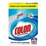 Colon Polvo Activo - Detergente para lavadora, adecuado para ropa blanca y de color, formato polvo - 80 dosis