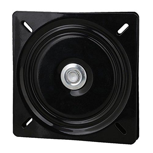 BQLZR A3 Plaque carrée pivotante en acier noir avec roulement à billes pour tabouret et chaise de bar, noir, BQLZRN25108