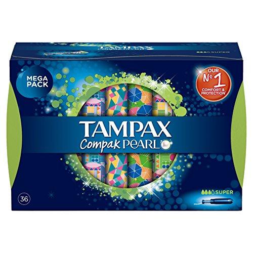 TAMPAX Compak Pearl Super, 36 tampones