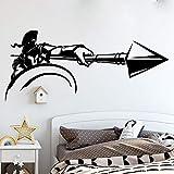 Antigua Grecia Spartan Warrior Spear War Sword Attack Helmet Solider Vinilo Etiqueta de la pared Calcomanía del coche Dormitorio Sala de estar GYM Club Decoración para el hogar Mural