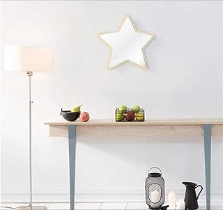 Wangzhuoyue Miroir Mural en Forme De Pentastar Miroir De Sécurité Acrylique Étoile À Cinq Branches avec Dos en Bois Enfant...