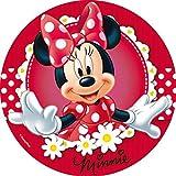 DECOCINO essbarer Zucker-Tortenaufleger DISNEY Minnie Mouse, Disney-Klassiker – Minnie Mouse-Kuchendeko – Maus-Tortendeko, Kindergeburtstag & Geburtstagsdeko