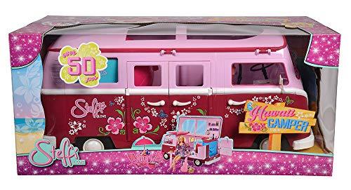 Simba 105739423 Steffi Love Flower Power Bus - Autocaravana con accesorios y muñeca [Importado de Alemania]