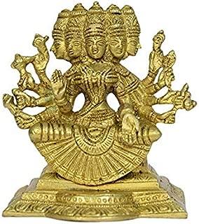 Astadhatu Made Gayatri MATA Idol/Gayatri MATA Brass Puja Idol/Maa Gayatri Brass Idol- Vrindavan (10 cm)