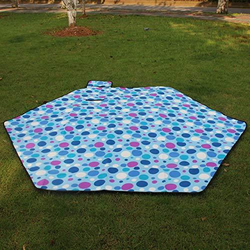 DKFS wasserdichte Isomatte Picknickmatte Stranddecke Zeltmatte Outdoor Schlafmatte Familie Garten Garten Baby Krabbelmatte Blau 240 * 240Cm