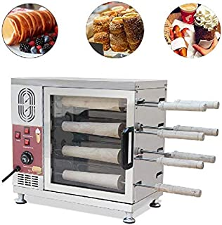 Commercial or Home Electric Ice Cream Cone Kurtos Kalacs Chimney Cake Roll maker Oven Machine Make 8pcs Chimney Cake At One Time