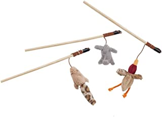 Ethical Pets Bulk Buy (3-Pack) Skinneeez Forest Friends Wand for Cats 12 inch Rabbit, Duck Or Chipmunk 2727
