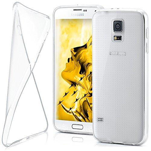 MoEx® AERO Case Transparente Handyhülle kompatibel mit Samsung Galaxy S5 Mini | Hülle Silikon Dünn - Handy Schutzhülle, Durchsichtig Klar