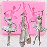 QMGLBG Zapatos de Ballet 3D moldes de Silicona Bailarina Cupcake Topper Fondant...