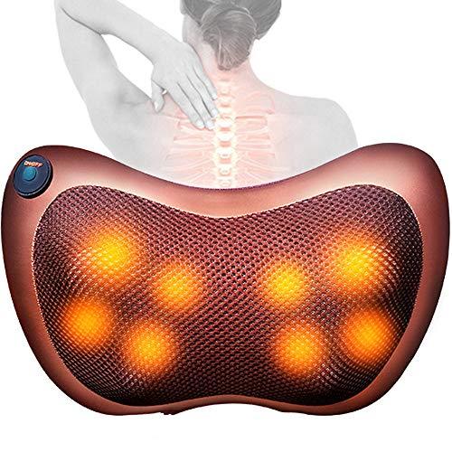 HGJDKSJ massagekussen, verwarmend, rugmassage, massageapparaat voor auto/bureaustoel, hals, schouders, rug, massagekussen voor taille, kan stress en ontspanning verlichten