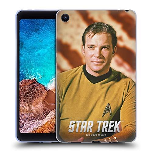 Head Case Designs Oficial Star Trek Mirar fijamente Capitán Kirk Carcasa de Gel de Silicona Compatible con Xiaomi Mi Pad 4