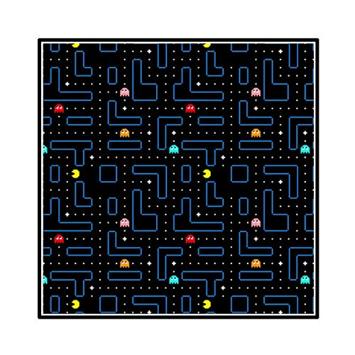FEWFQ Clásico Pacman Indie Estético Juego de Arcade Pintura Abstracta en Lienzo Arte de la Pared Carteles Foto para la decoración de la Sala de Estar -20X20 Pulgadas Sin Marco 1 Uds