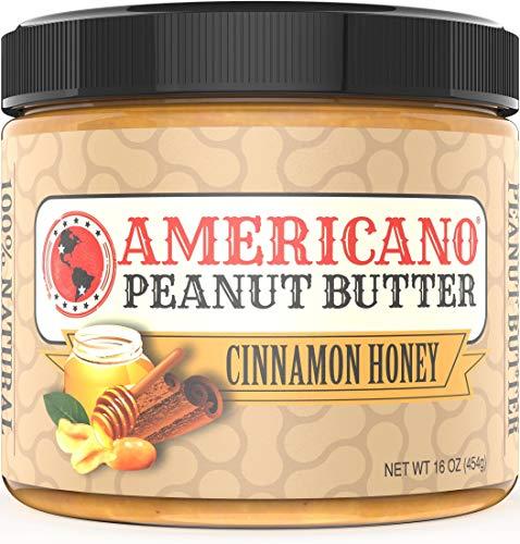 Americano Peanut Butter Creamy, Cinnamon Honey Natural Peanut Butter, 16 Ounce, Peanut Butter Honey Creamy Peanut Butter Natural Peanut Butter All Natural Peanut Butter