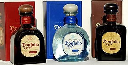 DON JULIO Tequila, 3er SET anejo, reposado, blanco