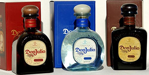 DON JULIO Tequila, 3er SET anejo, reposado, blanco