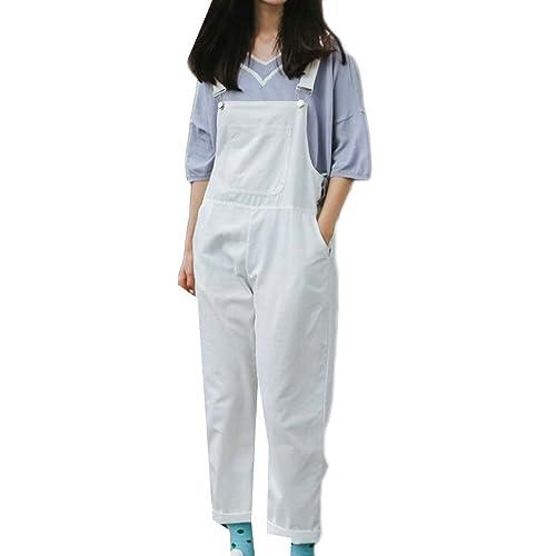 a6050c6f0e7 KLJR-Women Casual Loose Cotton Linen Bib Baggy Overalls Jumpsuit Pants