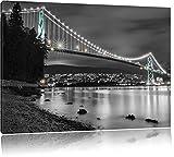 Lions Gate Bridge in Vancouver schwarz/weiß Format: 80x60