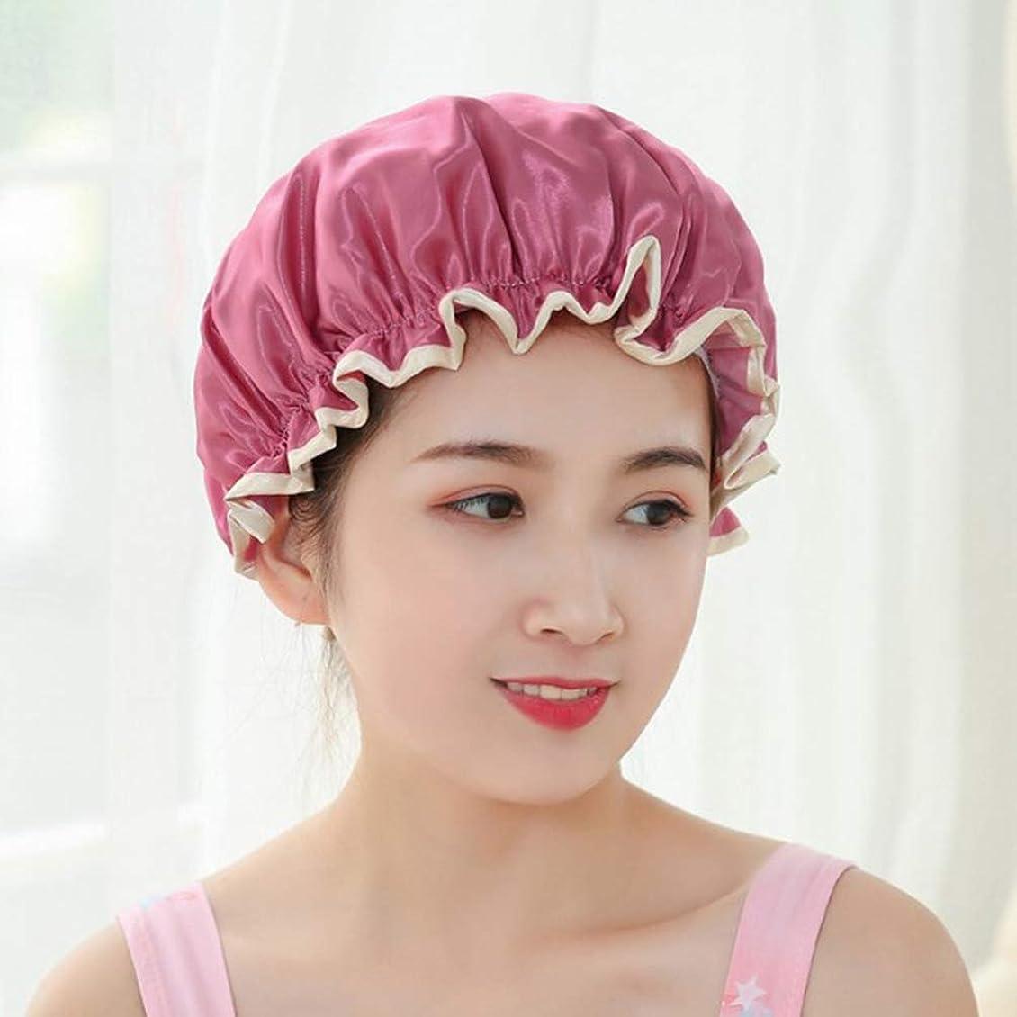 地震不公平フィールド(ライチ) Lychee (ライチ) Lychee 紫色 フリーサイズ シャワーキャップ 防水帽 入浴キャップ バスキャップ お風呂用 シャワー用 浴用帽子 可愛い おしゃれ 便利 繰り返し使用可能