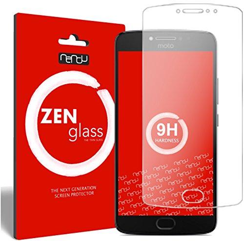 nandu I ZenGlass Pellicola Protettiva in Vetro Compatibile con Lenovo Moto E4 Plus I Protezione Schermo 9H