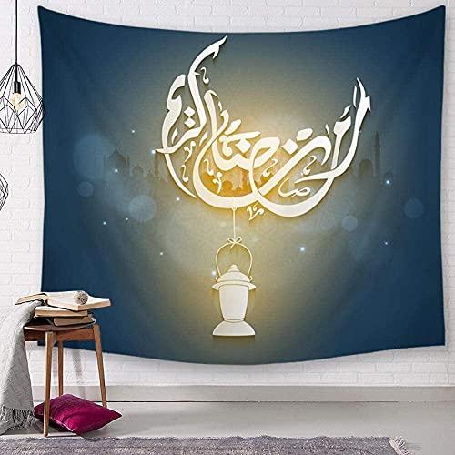 GDFEH Tapice Tapiz De Decoración De Ramadán, Tapiz De Fondo De TV, Tapiz De Paisaje De Pared para Sala De Estar, Dormitorio, Dormitorio (Color : E, Size : 150 * 130cm Thin Sanding)