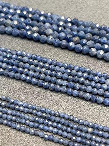 JSTF Zafiro piedra natural cuentas sueltas facetadas kit redondo pequeña joyería haciendo DIY pulsera collar pendientes al por mayor