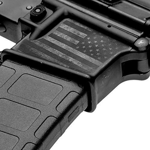 GunSkins Magwell Skin Specialty Vinyl-Aufkleber für AR-15/M4 Unterempfänger, GS America Grey