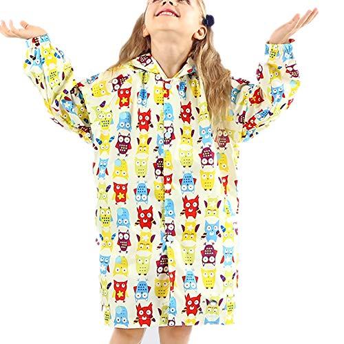Raincoat pour enfants Enfants Raincoat garçon Girly école élémentaire étudiant Poncho Mignon Nylon Randonnée Raincoat for les enfants Enfants Veste imperméable tempête Pause ( Color : Red , Size : S )
