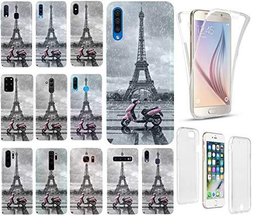 Hülle für iPhone 7 / 8 / SE 2020 Handyhülle Motiv 1193 Paris Frankreich Eifelturm Roller Rosa Premium 360 Grad FullBody SchutzHülle Softcase HandyCover Handyhülle für iPhone 7 / 8 / SE 2020 Hülle