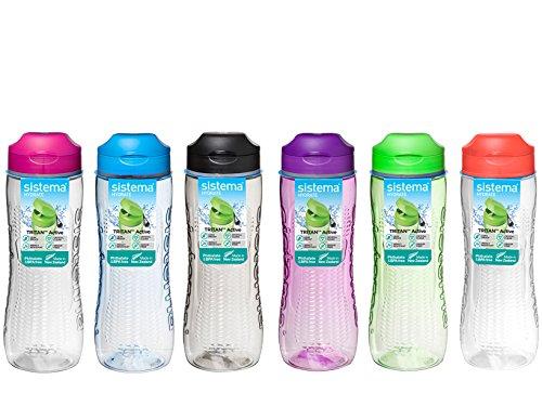 Sistema-Trinkflasche, 800ml, plastik, sortiert