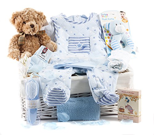 Wickers Just For Baby Deluxe Hamper - BOY   Wickers Gift Baskets