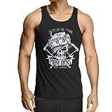 N4605V Camiseta sin Mangas Skate or Die Trying (Small Negro Multicolor)