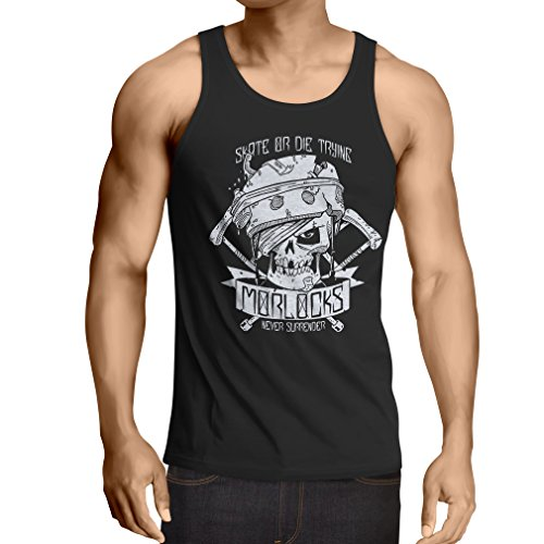 N4605V Camiseta sin Mangas Skate or Die Trying (Large Negro Multicolor)