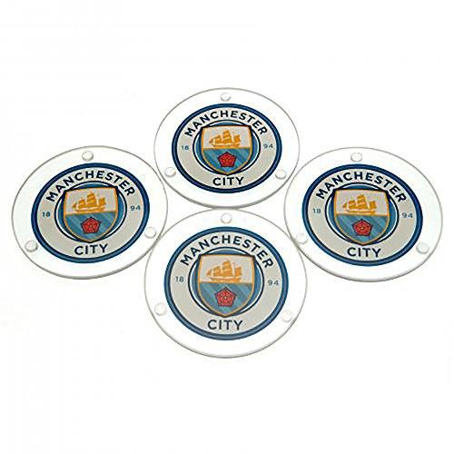 Glazen onderzetters - Manchester City F.C (RD)