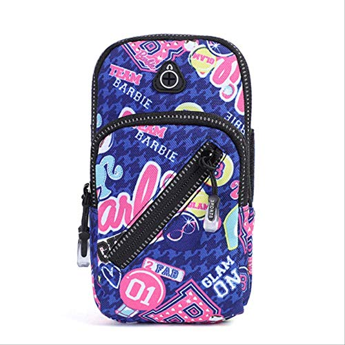 ESJY Brazalete Deportivouniversal Zipper Sport Running Arm Band Bag Cover Wallet Holder Bolsillo Al Aire Libre En La Mano Gym Belt Phone Case One Size Flower Color