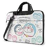 ドラえもん Doraemon パソコンバッグ Pcケース 撥水加工 ノートパソコン&タブレット Macbook ケース 取っ手付き ブリーフケース 耐衝撃 男女兼用 軽量(13インチ 14インチ 15.6インチ )