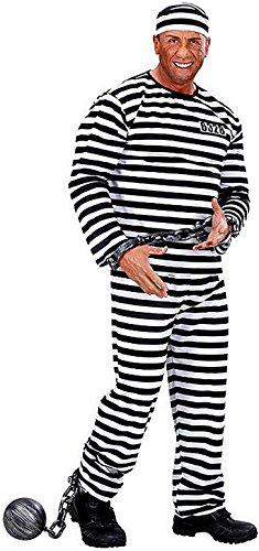 WIDMANN Taglia L - Costume - Travestimento - Carnevale - Halloween - Carcerato Prigioniero - Colore Bianco - Adulti - Uomo - Ragazzo