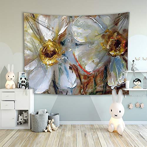 WERT Flores Coloridas Bosque otoño Arte Pintura decoración de la habitación Mariposa Sala de Estar Fondo Tapiz de Tela A2 100x150cm