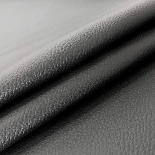 Panini Tessuti Tessuto Ecopelle Morbida Finta Pelle a METRAGGIO a Partire da 50 CM (Lunghezza) x 140 CM (Larghezza Fissa); 1 qtà=50cm; 2qtà=100cm - per arredo DIVANI, SEDIE (1/2 Metro, Nero)