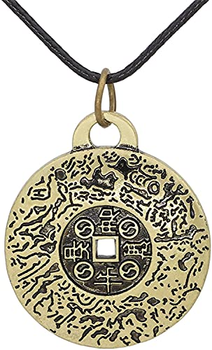 TEAYASON Collar de Feng Shui, Las Propiedades Del Amuleto de Dinero de Feng Shui, Colgante de Talismán, Regalo de Joyería de Estilo Vintage para Hombres Y Mujeres
