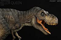 Rebor 1/35 サイズ ティラノサウルス・レックスT-REX Tレックス killer queen ジュラシック プラモデル 大きい 恐竜 リアル スタチュー フィギュア PVC 大人 おもちゃ 動物 生物 模型 プレゼント オブジェ プレミアム 36.8cm級 オリジナルボックス 塗装済 完成品 (ブラウン)