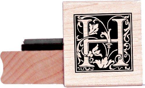Tampon en caoutchouc alphabet - Lettre H à la William Morris
